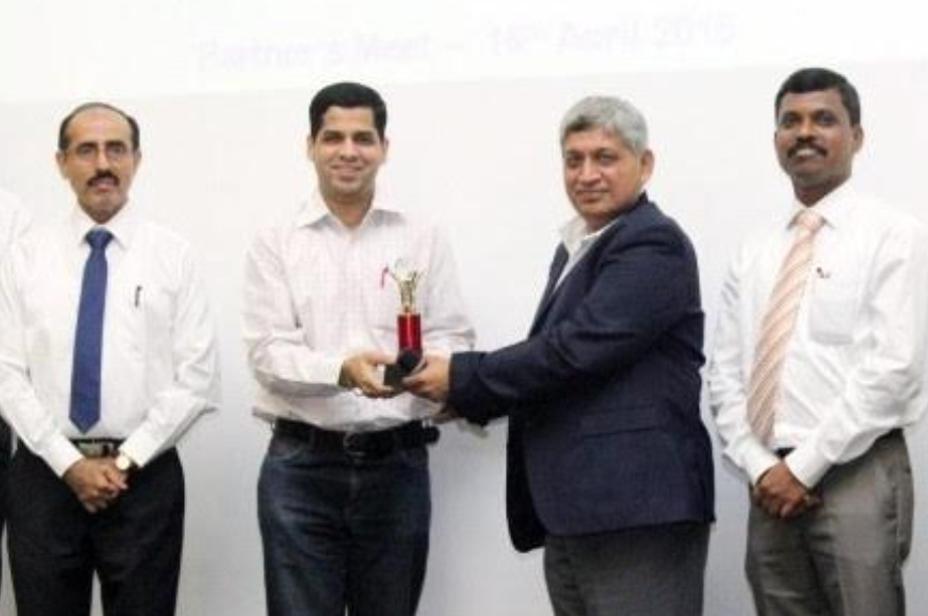 Receiving award at Vendor Meet ( Godrej Tooling) - 2015